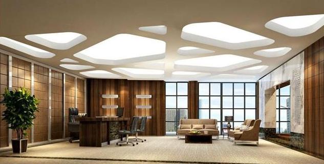 办公室装修中式吊顶效果图