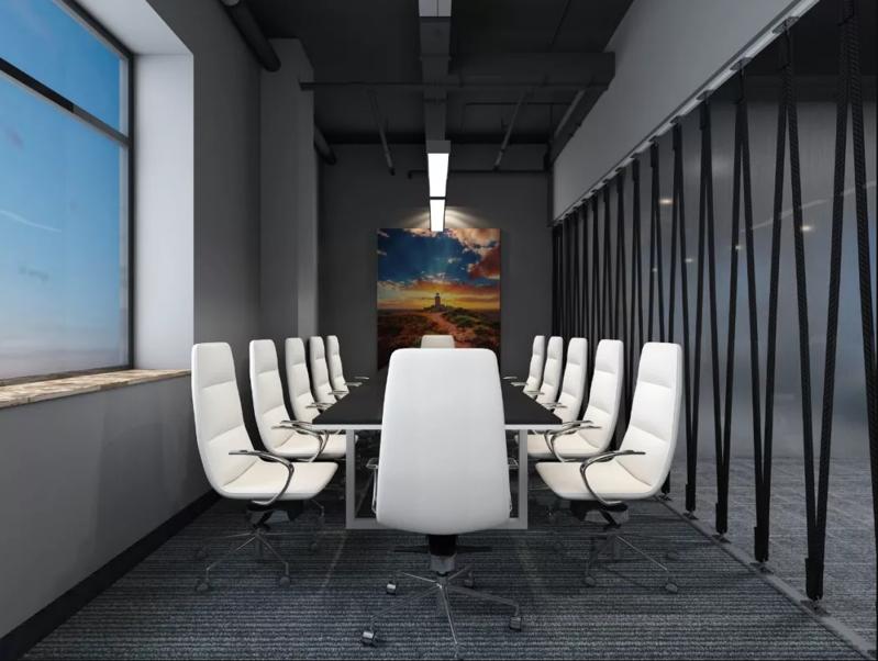互联网公司智能办公室装修效果图