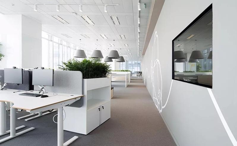 办公室绿色环保装修设计效果图