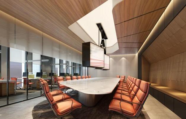 欧式风格会议室装修效果图