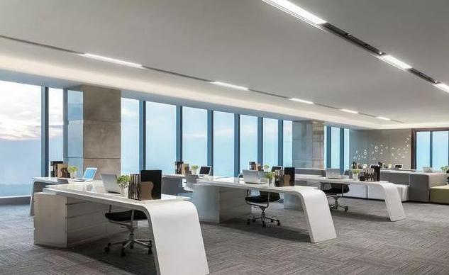 1700平方米办公室装修设计方案效果图
