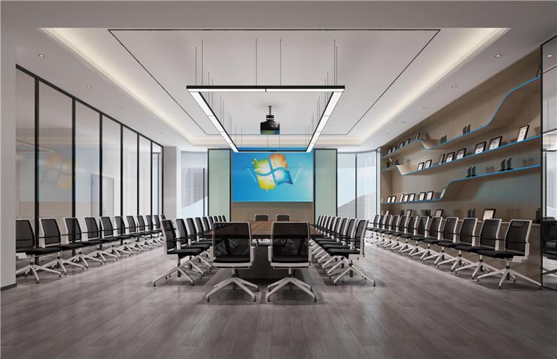 企业办公室会议室装修效果图