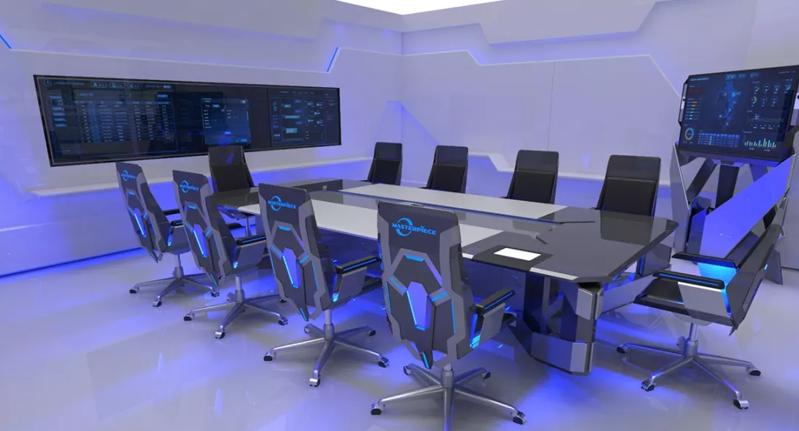 科幻办公室装修效果图