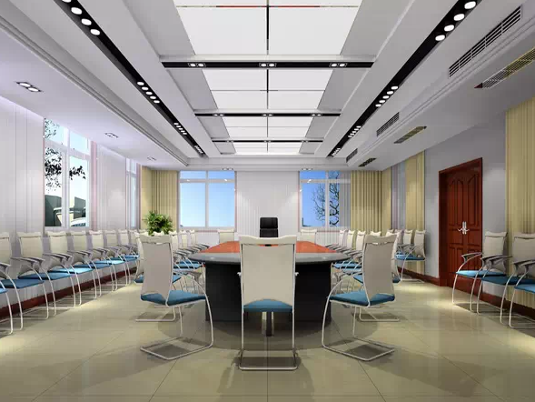 机关事业单位会议室装修效果图