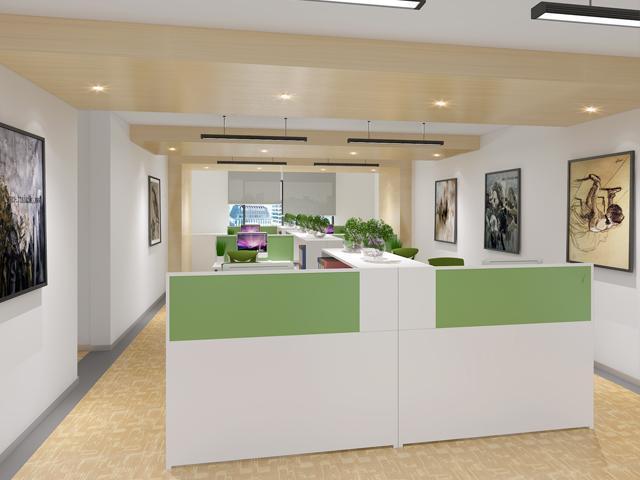 医疗器械公司办公室装修图