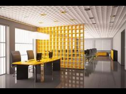 办公室屏风隔断装修效果图图片-屏风隔断装修多少钱