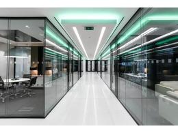 办公室走廊装修设计 办公写字楼走廊过道装修效果图